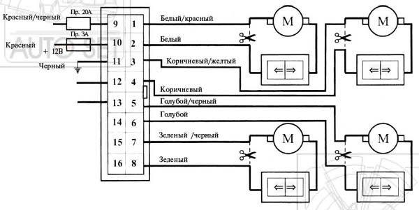 схема подключения модуля управления светотехникой на уаз патриот