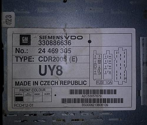 Код автомагнитолы Трафик-Виваро, разблокировка. - Пост 445146 - Фото 1
